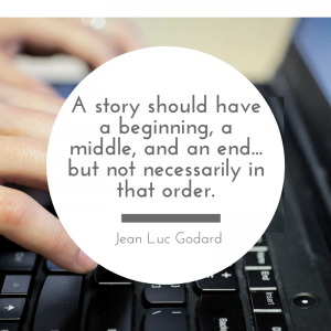 Jean Luc Godard quote on writing
