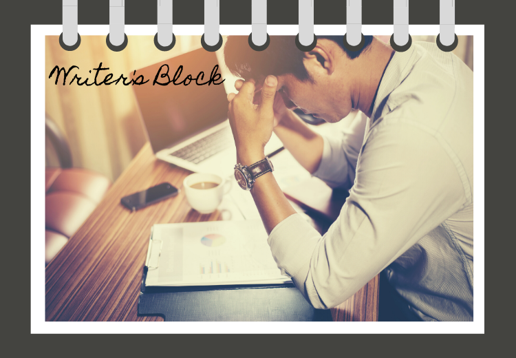 a writer experiencing writer's block