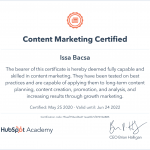 certified in web content marketing