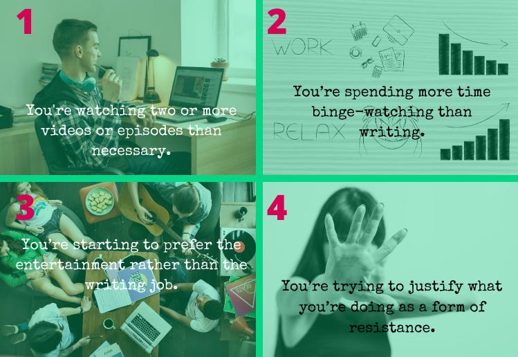 4 signs of binge-watching