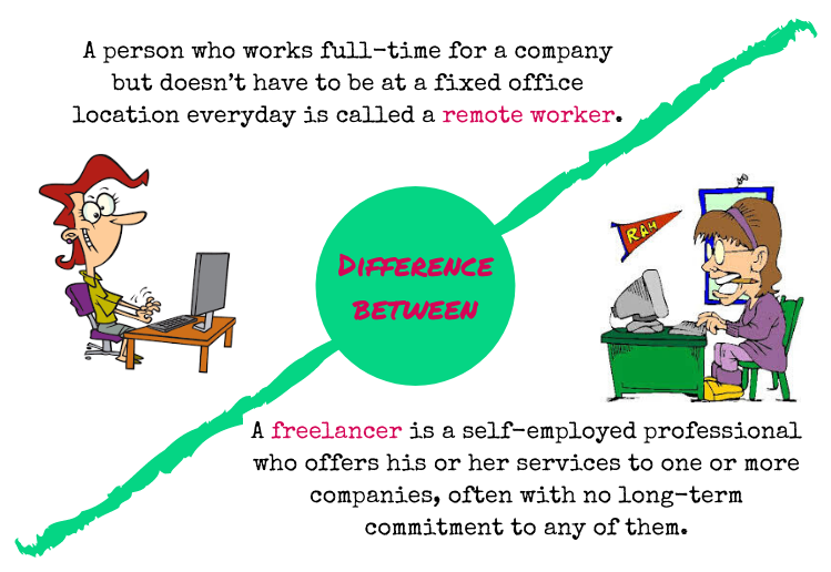 difference between a freelancer and remote worker